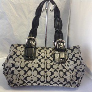 Coach Signature Hobo Bag / Braided Leather Straps